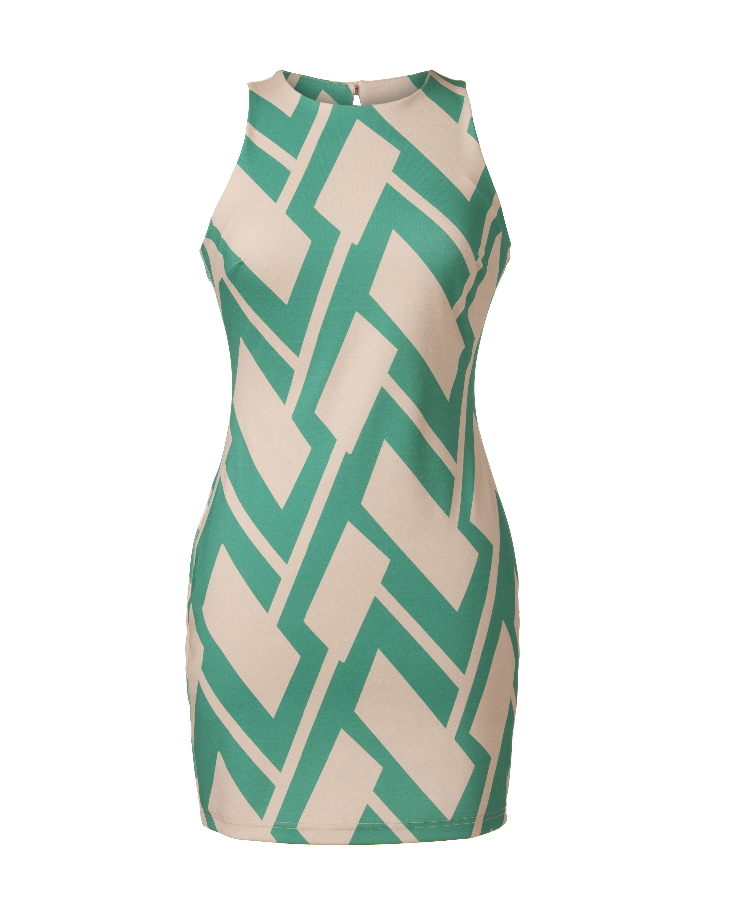 1926 Print Art Deco Fashion French Couture Dress Berthe - Art Deco